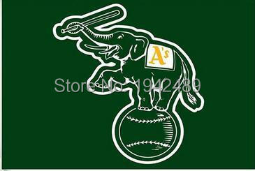 3ft x 5ft Oakland Athletics Bayrağı Polyester 100D
